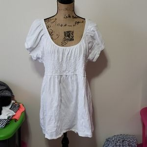Xxl old navy white baby doll top